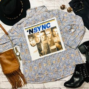 Tops - Handmade *NSYNC Vintage Western Button Up Flannel